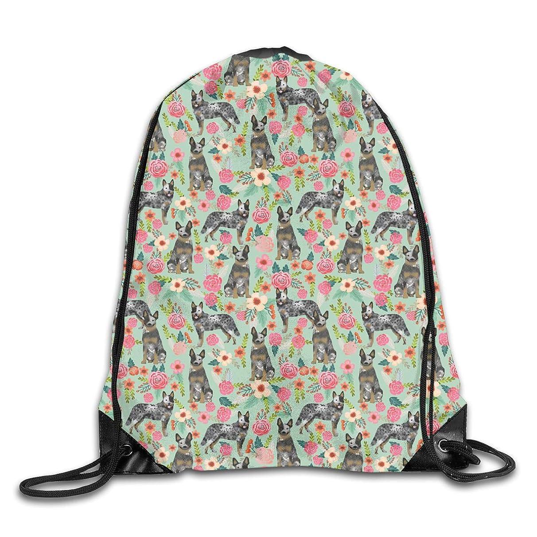 Blue Heeler Dog Men & Women Sport Gym Sack Dancing Bag Drawstring Backpack For Beach Hiking Travel Bags