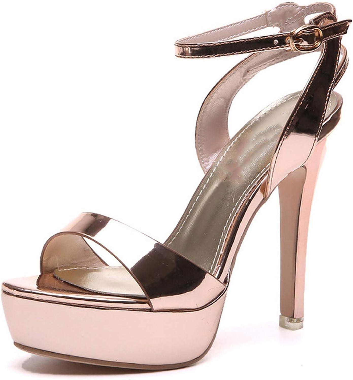 Women's shoes Spring Sandals One Word Buckle Waterproof Platform,