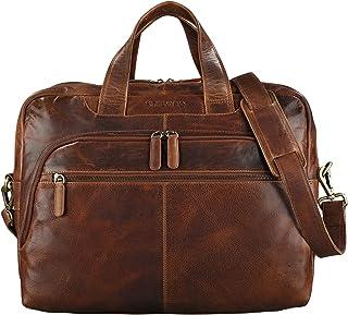 """STILORD Lias"""" Umhängetasche Leder Herren Vintage 15,6 Zoll Businesstasche Laptoptasche groß Arbeit Büro Uni Antik Leder"""