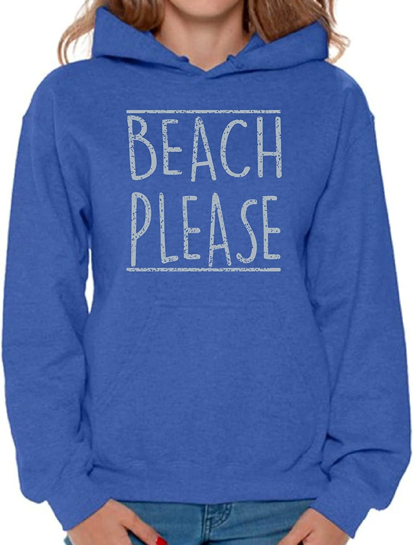 Awkward Styles Women's Beach Please Hoodie Gray Gym Hooded Sweat