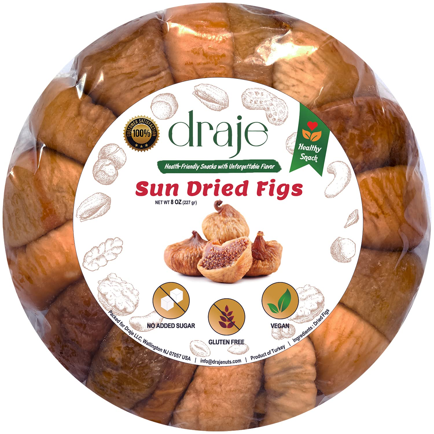 Unsulfured Sun Dried Figs On-The-Go Seattle Mall Size Soldering Turkish Snack 8 oz B