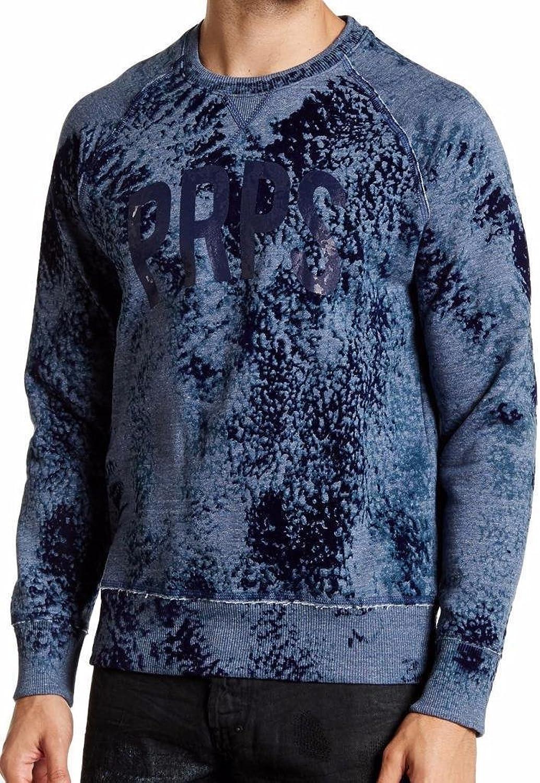 PRPS GOODS&CO. AcidWash Raglan Sleeve Sweatshirt, bluee ( 325)