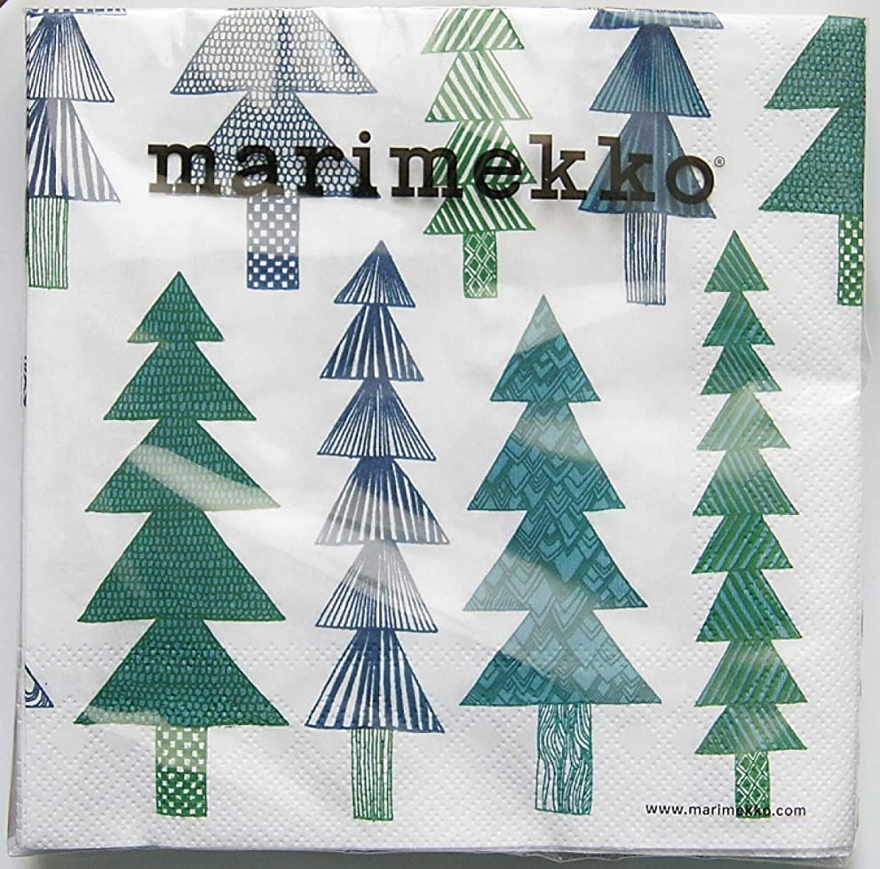 クリケット甘やかす拘束マリメッコ ペーパーナプキン KUUSIKOSSA green 33cm marimekko 1パック20枚入り 北欧 [並行輸入品]