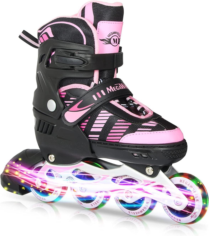 MEGAWHEELS Adjustable Inline Skates Daily Regular discount bargain sale for Roller Beginner Kids Sk
