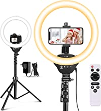 "12"" Selfie Ring Light with 67"" Tripod Stand & Cell Phone Holder, Aureday LED Circle Light for Photography/Makeup/YouTube V..."