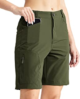MIER Women's Quick Dry Stretchy Hiking Shorts Lightweight Travel Shorts with 5 Pockets, Water Resistant