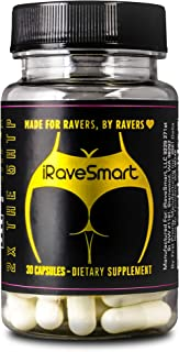Rave Hangover Recovery: iRaveSmart | 30 Capsules | Rave Preparation - Morning Rave Recovery Hangover |Supplement made FOR Ravers BY Ravers | Designed with PLUR