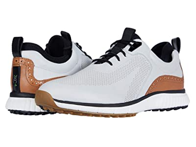 Johnston & Murphy Waterproof XC4(r) Golf H1-Luxe Hybrid Sneaker (White Waterproof Full Grain) Men