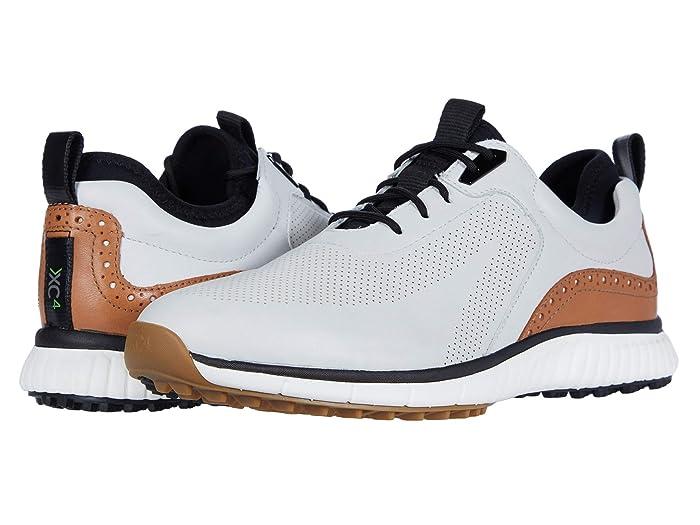 Johnston and Murphy  Waterproof XC4 Golf H1-Luxe Hybrid Sneaker (White Waterproof Full Grain) Mens Shoes