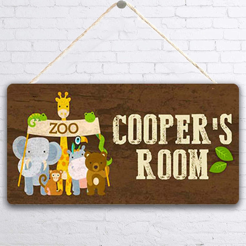 MUPIANLX Personalized Washington Mall Zoo Animal Woodland Customized Sign Phoenix Mall Gift