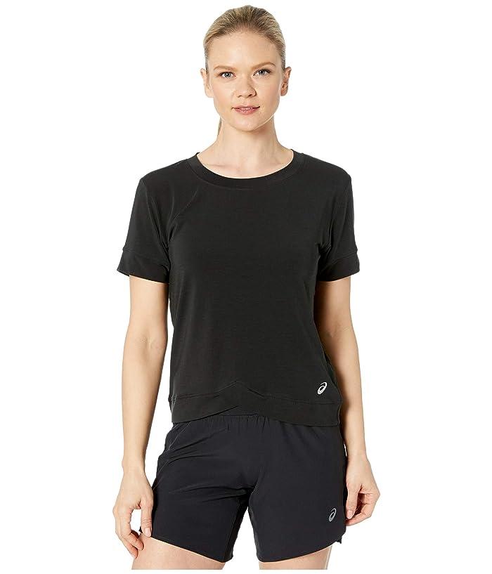 ASICS  Front Fold Tee (Performance Black) Womens Clothing