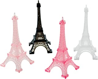 Amscan 4 Mini Eiffel Towers A Day In Paris Plastic, Multi-Colour