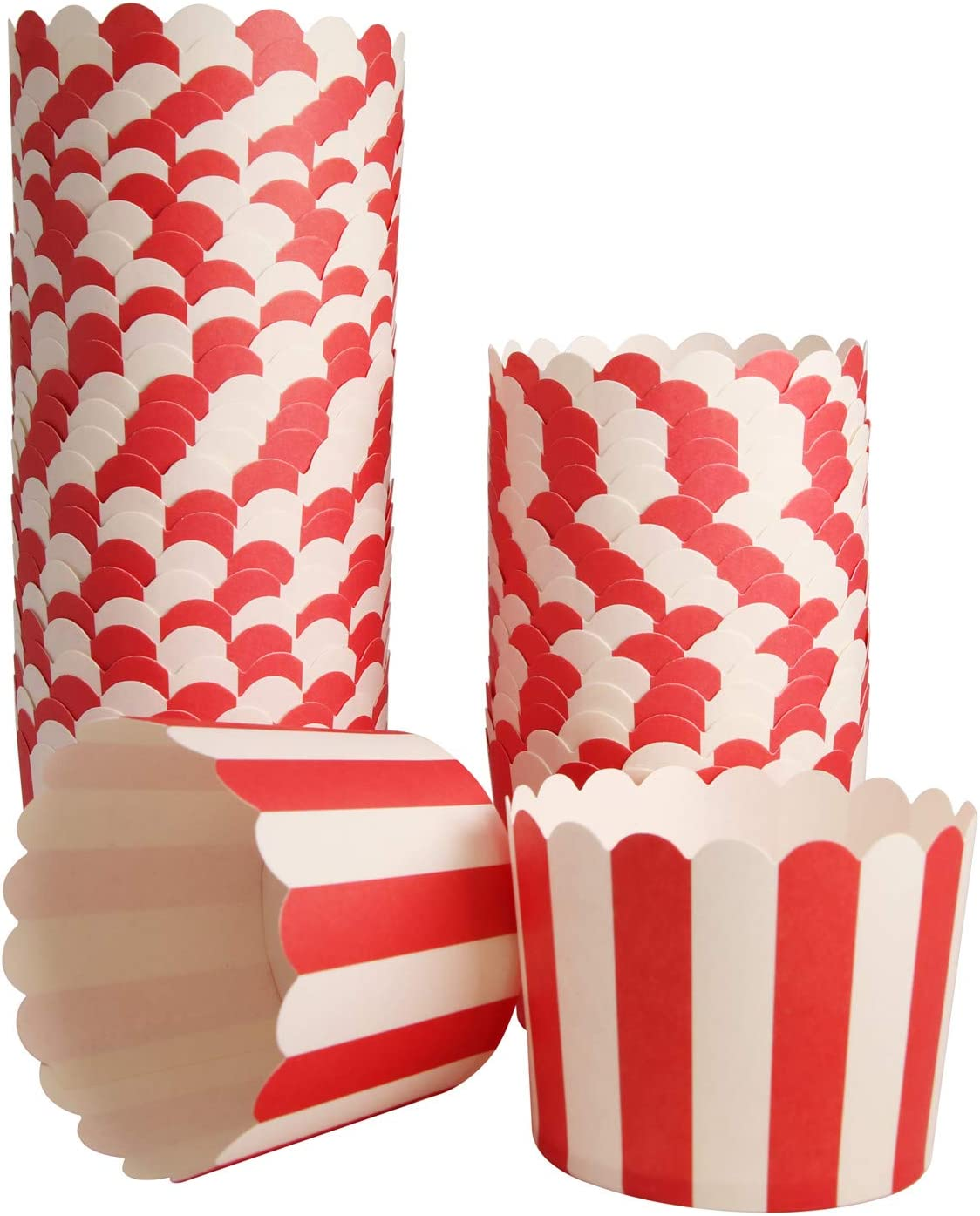 50-Pack Muffin Fashionable Cups Baking Paper Cupcake Muffins Red Liners Cup 5 popular