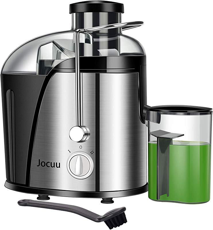 Jocuu Juicer Machine Centrifugal Juicer Juice Extractor Wide Feed Chute Easy To Clean 2 Speed 600W Power Food Grade 304 Stainless Steel BPA Free Dishwasher Safe