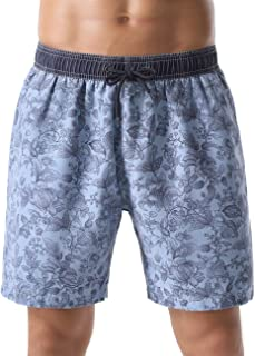 unitop Men's Board Shorts Quick Dry Washed Vintage Bathing Trunks