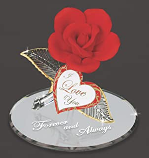 Glass Baron Red Rose Forever and Always Figurine