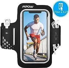 Mpow Fascia da Braccio, Sweatproof Fascia Sportiva da Braccio Portacellulare per iPhone 11 Pro/11/XR/XS/X/8/7, Galaxy S9/S8/S7【Fino a 6,2''】, per Corsa & Esercizi con Supporto Chiave e Tasca per Carte