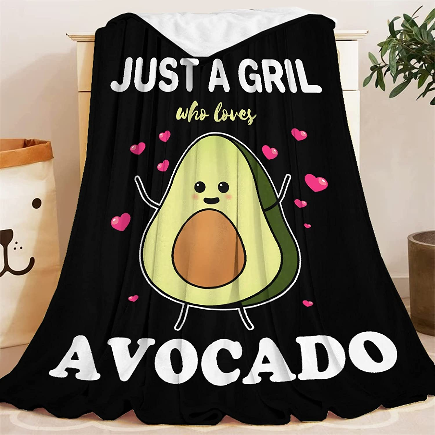 Blanket Daily bargain sale Just A Girl Who Portland Mall Loves Li Throws Super Gifts Avocado Soft