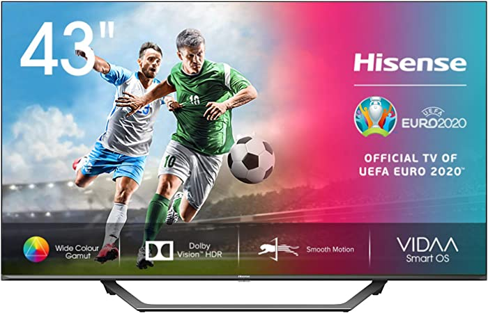 Hisense 43AE7400F UHD TV 2020 - Smart TV, Resolución 4K, Dolby Vision, Wide Color Gamut, audio DTS Virtual-X, Ultra Dimming, Vidaa U 4.0, 43