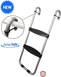 Trampoline Wide 2-Step Ladder with Safety Latch | Trampoline Wide 3-Step Ladder with Safety Latch | Jump Slider Trampoline Slide | [Lifetime Parts Warranty]