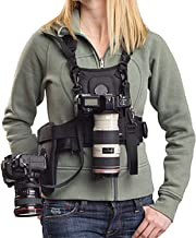 Dual Camera Harness, Micnova MQ-MSP01 Multi Carrying Chest Vest System with Side Holster for Canon 6D 600D 5D2 5D3 Nikon D90 Sony A7S A7R A7S2 Panasonic Olympus DSLR Cameras Climbing Wedding Travel