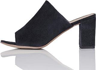 Marca Amazon - find. Zapatos de tacón con punta abierta Mujer