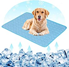 Dog Cooling Mat Extra Large - Hamkaw Pet Cats Dogs Cooling Pad With 3 Layers - Help Your Pet Stay Cool - Non Toxic Ice Silk Mat Sleep Cushion For Kennel Sofa Bed Floor Indoor Outdoor Blue