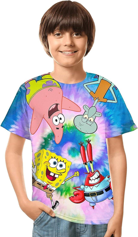 Boys' Short-Sleeve T-Shirts 3D Printing Shirt Cool Tee Shirts for Boys Girls Kids Summer Tops
