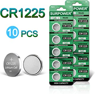 SURPOWER CR1225 3V Battery for Thermometer - 10 Pack