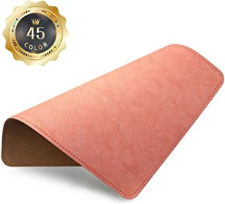 PU Leather Mouse Pad with Stitched Edge Micro-Fiber Base with Non-Slip, Waterproof, Mouse Pad for Computers, Laptop, Offic...