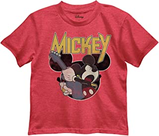 Disney Little Boys' Mickey Mouse Rocks Out Graphic Tee T-Shirt