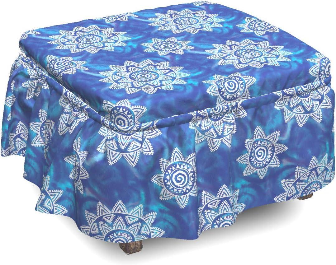 Lunarable Boho Ottoman Cover Aquarelle 2 Pie Brush Sun Free Shipping Cheap Bargain Gift Max 47% OFF Strokes