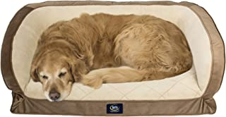 Serta Orthopaedic Gel Memory Foam Quilted Couch Bed, Large Brown