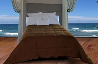 Natural Comfort New in Color Down Alternative Comforter, King, French Roast/Chocolate Brown