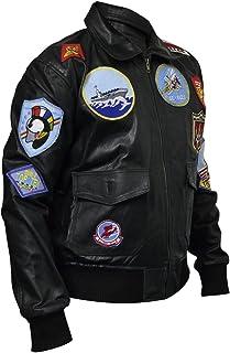 coolhides Men's Top Gun Fashion Leather Jacket
