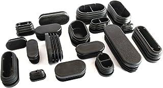 Tapones redondos de pl/ástico negro acanalado de 60 mm de di/ámetro fabricados en Alemania.