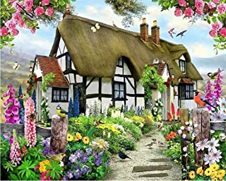 Custom Wallpapers Gorgeous Pastoral English Country Cottage Rose Garden Children's Room TV Backdrop Mural 3D Wallpaper