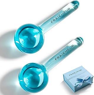 Frozen Cryo Roller voor koude gezichtsmassage | Skincare Cooling Glass Massager met anti-vries vloeibare binnenzijde | Ver...