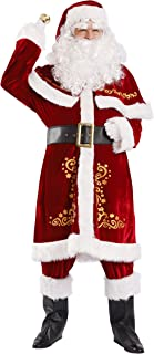 OVOV Adult Santa Claus Christmas Suit Costume Set for Party Cosplay