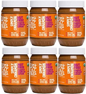 Don't Go Nuts Roasted Soybean Spread, Simply Cinnamon, 6 Count, Nut-Free Non GMO Organic