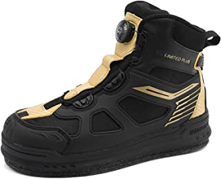 Willsky Bottes De Pêche Imperméables pour Hommes Wading Sneakers Steel Léger Sole Sole Soleil Nail Anti-Slip pour La Pêche...