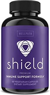 Shield Elderberry Capsules - 5-in-1 Immune Support with Zinc, Vitamin C, Echinacea, Bee Propolis - Premium Immune Booster ...