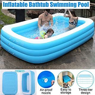 Inflatable Pool, Blow Up Family Full-Sized Pool for Kids, Toddlers, Infant & Adult,Swim Center for Ages 3+, Outdoor, Garde...