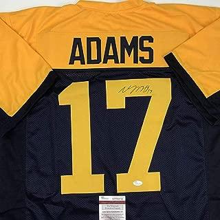 Signed Davante Adams Jersey - Retro Blue COA - JSA Certified - Autographed NFL Jerseys