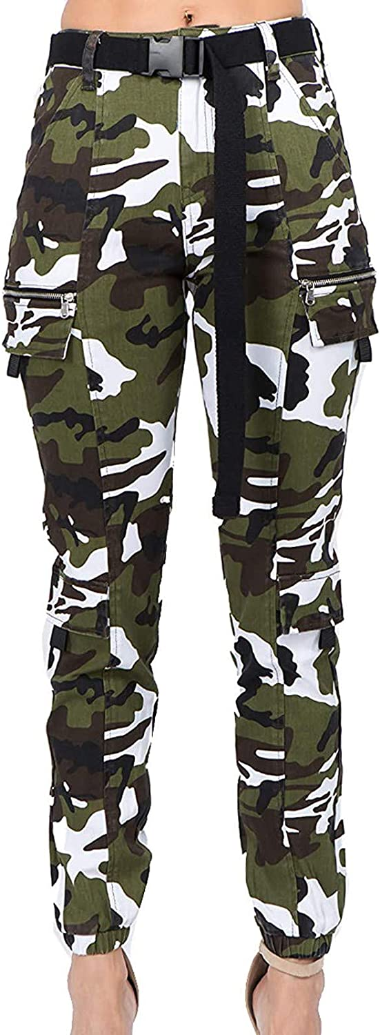 GALAFIRE Camouflage Pants Womens Plus Size Outdoor Lounge High W