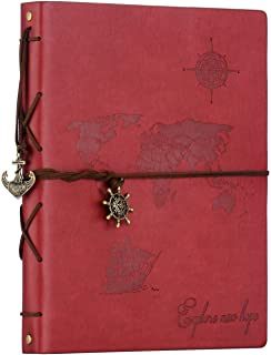ZEEYUAN Album Scrapbooking, Voyage Album Photo en Cuir Carte du Monde Vintage Bricolage Auto-adhésif Photo Livre Rétro Spé...