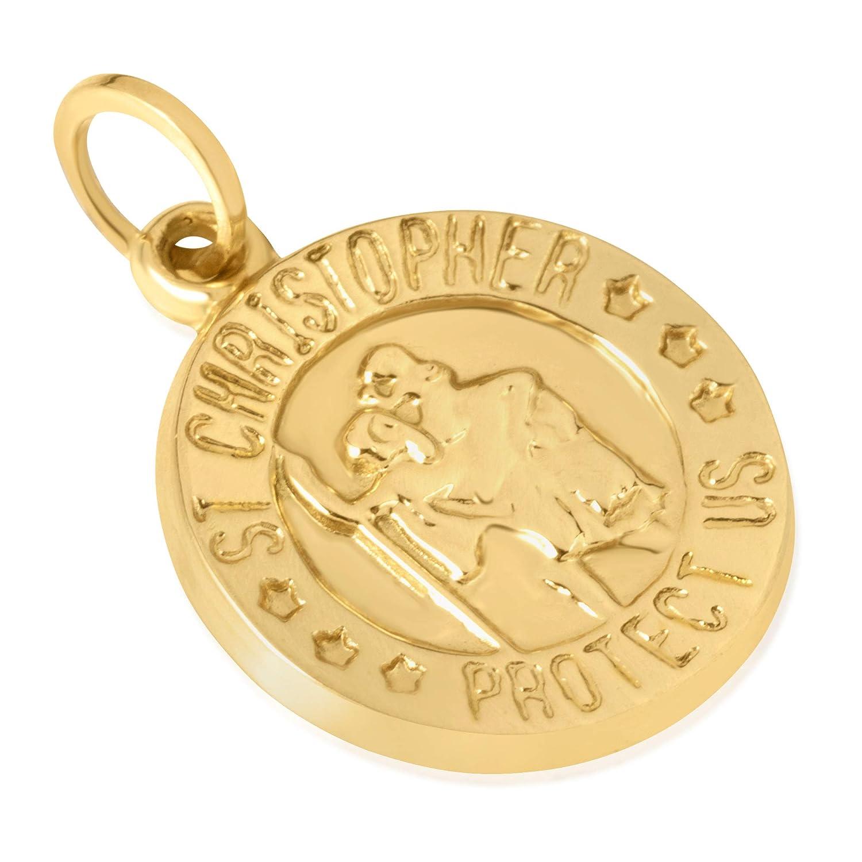 Details about  /14k Yellow Gold Saint Matthew Medal Charm Pendant 0.75 Inch