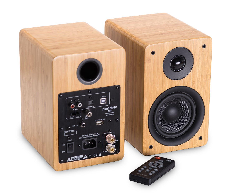 Peachtree Audio Powered Speakers Bamboo