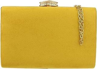 Girly Handbags Elegante bolso de mano de ante