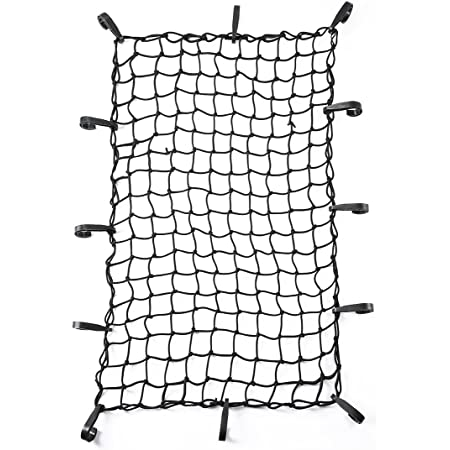 47x 36 Adjustable Cargo Net Bungee Nets for SUV Pickup Truck Bed Travel Luggage Rack with 12 Sturdy Nylon Hooks
